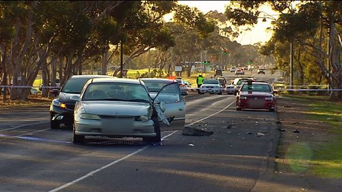 The driver of the car was uninjured in the collision. Picture: 9NEWS