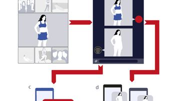 This graphic details how a scammer could target a victim by generating a deepfake nude and then trying to extort the person for money, by threatening to share it online and damage the person's reputation