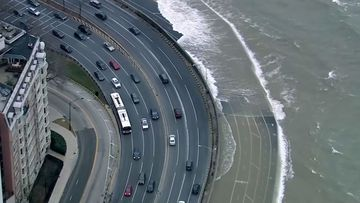 Surging waves from Lake Michigan cause chaos in Chicago