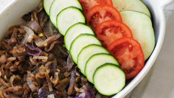 Zucchini, eggplant & tomato tian