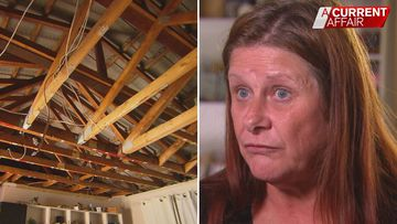 Woman's nightmare continues after roof of rental collapses