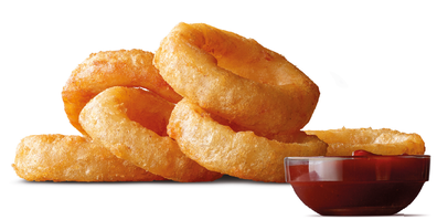 McDonald's Onion Rings with Southern BBQ sauce