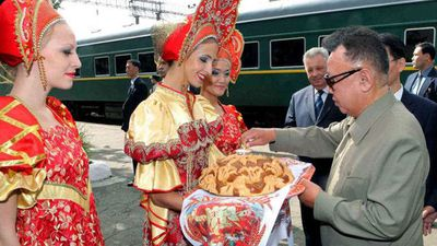 <p><b>Kim Jong Il: Foodie Extraordinaire</b></p>Kim Jong Il claimed to be a food connoisseur, and reportedly had fresh lobster flown to his train while travelling through Russia. He would eat it with silver chopsticks. (AP)