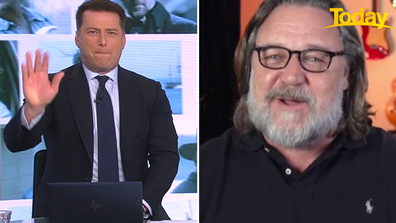 Today host Karl Stefanovic and Russell Crowe