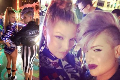 @fergie: on the #lovebus with @kellyosbourne. #LALOVE #lastnight #regram