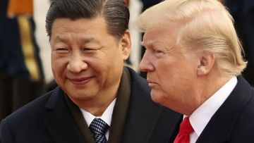 China's president Xi Jinping with US president Donald Trump.