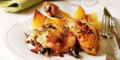 Chicken with Pancetta and Olives