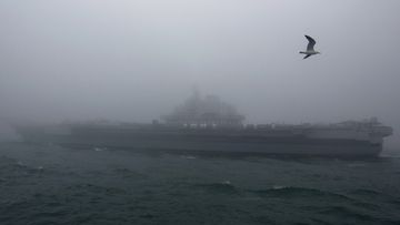 A file image of The Chinese People's Liberation Army (PLA) Navy aircraft carrier Liaoning.