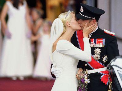 The Wedding Of Crown Prince Haakon Of Norway & Mette-Marit In Oslo in August 2001