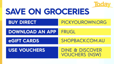 Zahos' tips on how to save on the grocery shop.