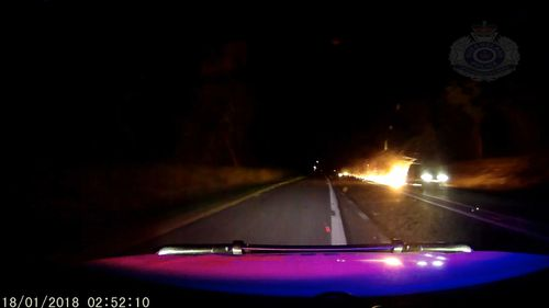 The driver dragged the trailer down the highway for 20 kilometres, police said. (QLD Police)