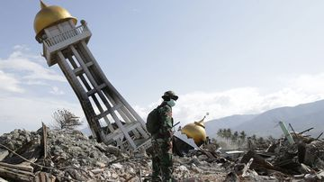 Palu, Central Sulawesi, Indonesia which was hit by an earthquake in October.