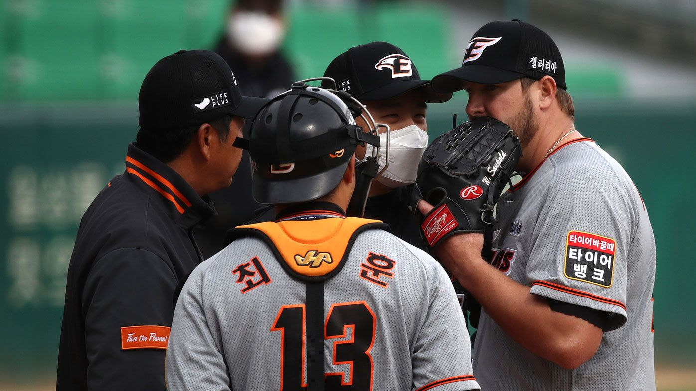 Aussie pitcher Warwick Saupold stars as Korea baseball league starts