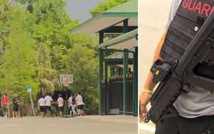Florida school introduces armed guards with rifles to protect against gun violence
