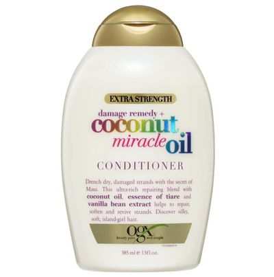 "<a href=""https://www.chemistwarehouse.com.au/buy/83086/ogx-extra-strength-coconut-miracle-oil-conditioner-385ml"" target=""_blank"" title=""OGX Extra Strength Coconut Miracle Oil Conditioner 385ml, $8.99"">OGX Extra Strength Coconut Miracle Oil Conditioner 385ml, $8.99</a>"