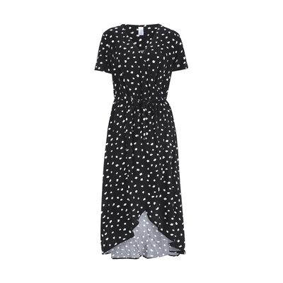 "<a href=""http://www.kmart.com.au/product/wrap-dress/1985380"" target=""_blank"">Kmart wrap dress</a>, $25.00&nbsp;"