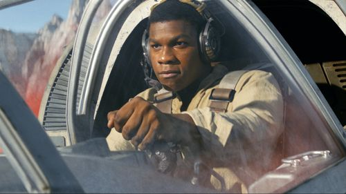 John Boyega has played Finn in The Force Awakens and The Last Jedi, and will reprise the role in the final film of the trilogy, to be released in 2019. (AAP)
