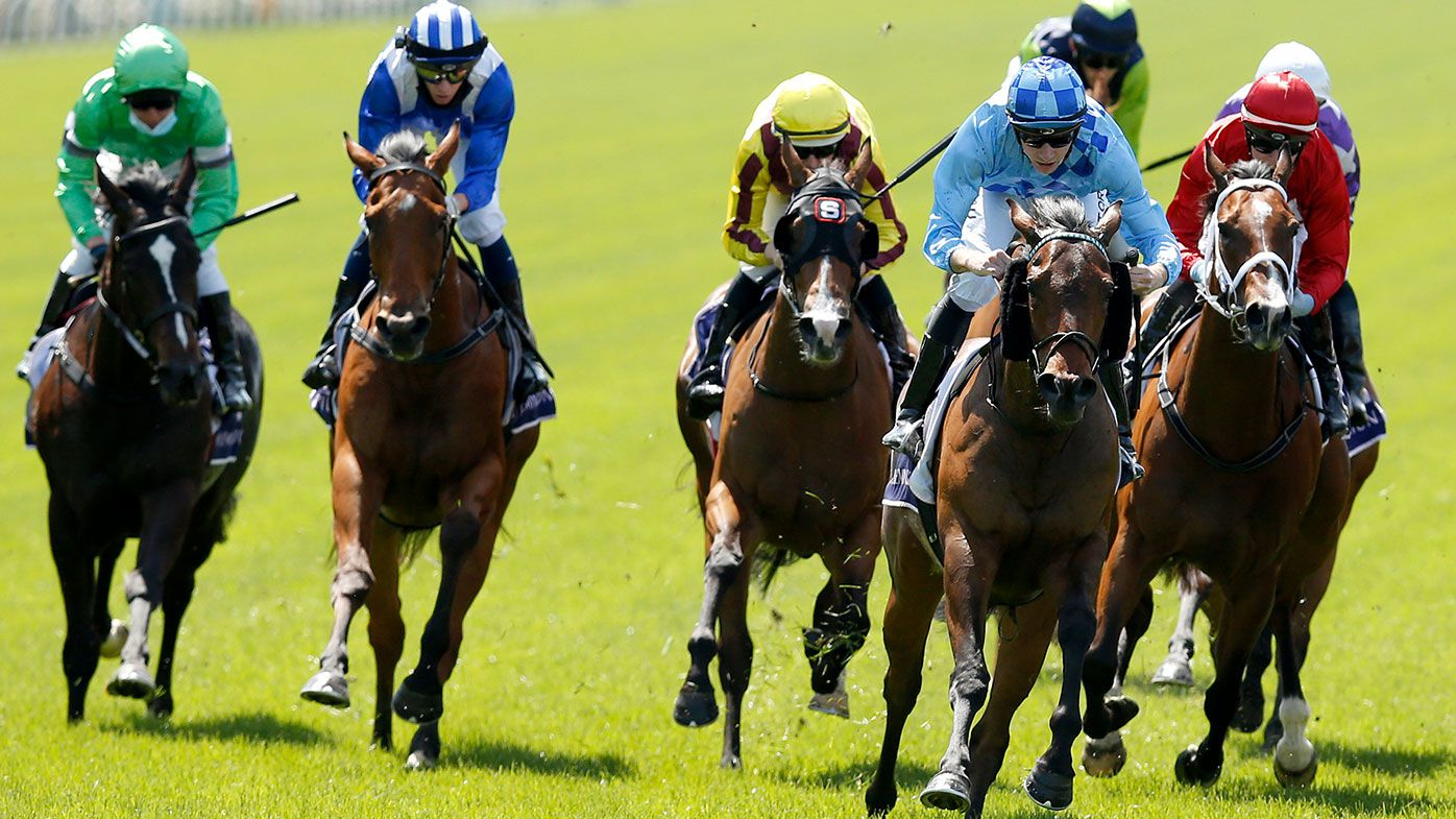 Declan Bates on board No Restriction wins race 2 the World Horse Racing Desirable Stake