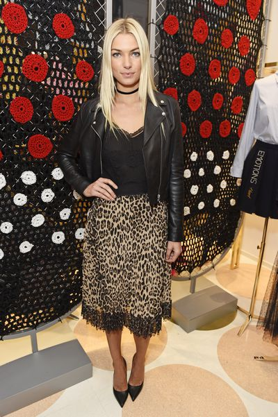 Jess Hart at the opening of the RED Valentino store in London, London Fashion Week