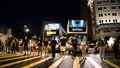 Hong Kong protesters join hands in 50-kilometre human chain.