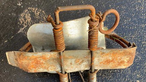 The rusty device was left in suburban Canterbury.