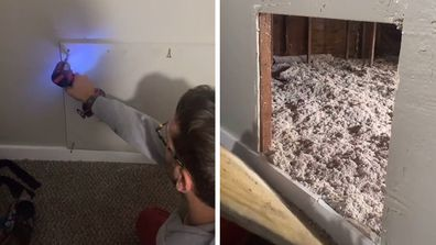 Couple finds hidden room after buying home