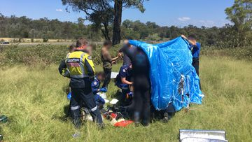 The man suffered fractures and spinal injuries.