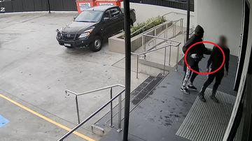 The robbery was captured on CCTV