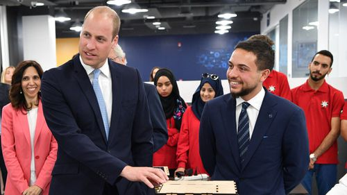 The Duke of Cambridge meets groups of young people involved in various initiatives from The Crown Prince Foundation. Picture: PA