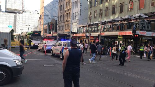 The street was locked down for a long time as authorities dealt with the situation.
