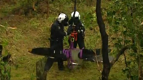 Police said finding the propeller was like 'finding a needle in a haystack'. (9NEWS)