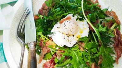 "<a href=""http://kitchen.nine.com.au/2016/05/16/17/27/watercress-salad-with-herbs-crisp-prosciutto-poached-egg"" target=""_top"">Watercress salad with herbs, crisp prosciutto & poached egg</a> recipe"