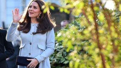 Earlier in the day, the Duchess attended a coffee morning at Family Friends, in Kensington, London. (AAP)