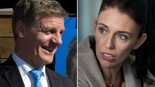 New Zealand Prime Minister Bill English and New Zealand Labour Party leader Jacinda Ardern are both in the running to win the upcoming general election. (AP)