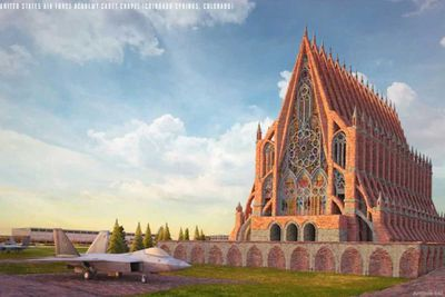 United States Air Force Academy Cadet Chapel re-imagined in a Gothic design