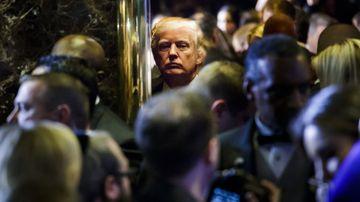 Donald Trump in Trump Tower. (AAP)