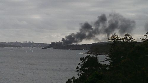It is not yet known what caused the boat fire. (Supplied, Peter Bennett)