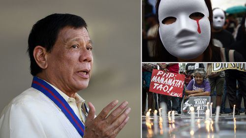President Rodrigo Duterte's policy of killing drug smugglers has sparked large protests in the Philippines.