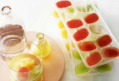 Melon and vodka ice