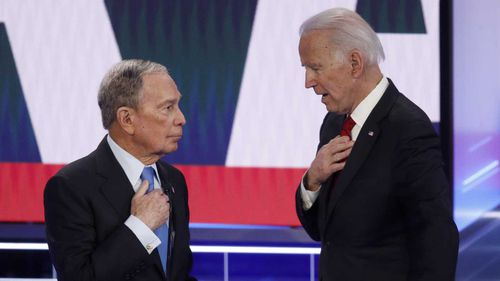 Joe Biden criticised Michael Bloomberg's record on civil rights.