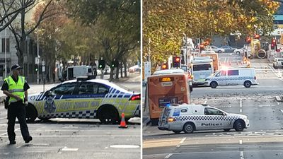 Bus bomb scare near Melbourne court