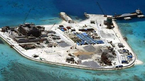 China has been accused by regional neighbours of militarising seven reefs into island fortresses in a bid to dominate the disputed area of ocean.