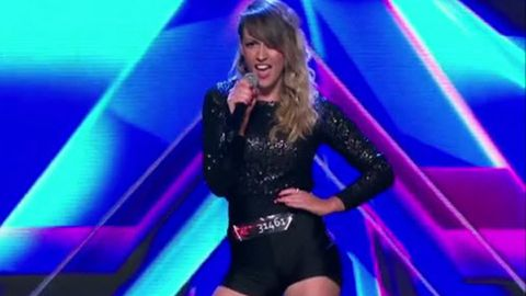 The Sex Factor! <i>X Factor</i> contestant outrages 'family' viewers with raunchy hot pants routine