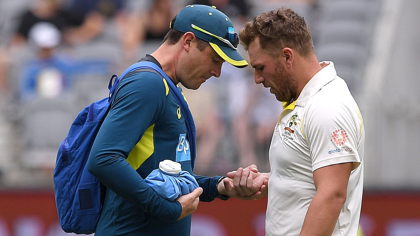 Aaron Finch cleared of serious damage after being forced to retire hurt on day three