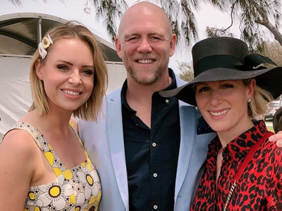 Mike and Zara Tindall with Nine presenter Julie Snook.