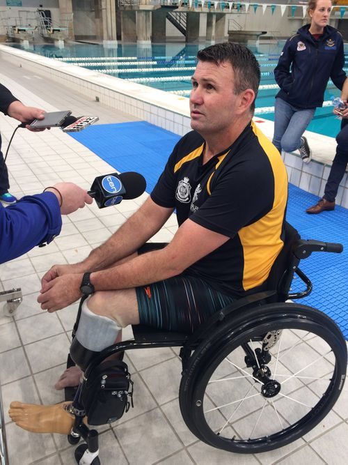 Gary Robinson is training for the Invictus Games. (AAP)