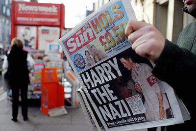 """Prince Harry came under fire in 2005 for wearing a Nazi costume to a friend's birthday party. He later issued an apology admitting a """"poor choice of costume""""."""