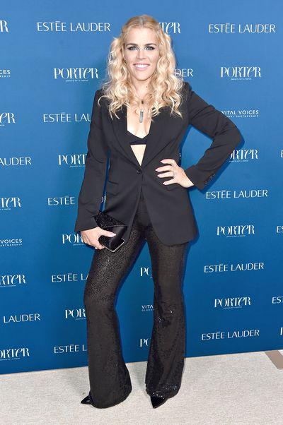 Busy Phillipps attends PORTER's Third Annual Incredible Women Gala at The Ebell of Los Angeles on October 9, 2018 in Los Angeles, California