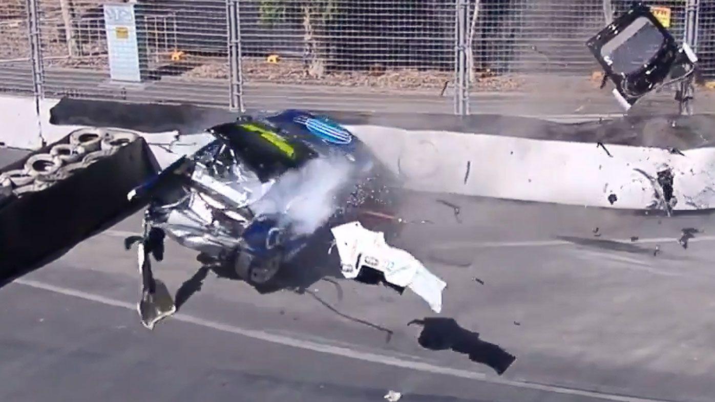 Macauley Jones crashes
