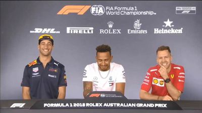 Lewis Hamilton and Daniel Ricciardo reveal their single weakness ahead of Formula One's 2018 Australian Grand Prix